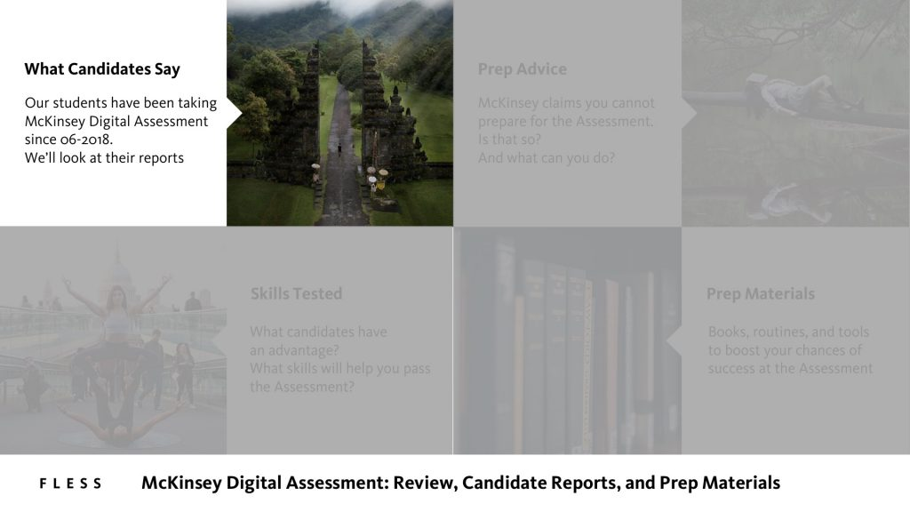 McKinsey Digital Assessment Candidate Reports