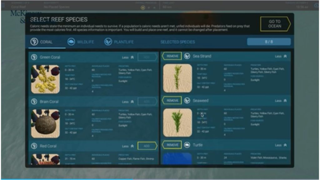 McKinsey Digital Assessment Screen Example 2